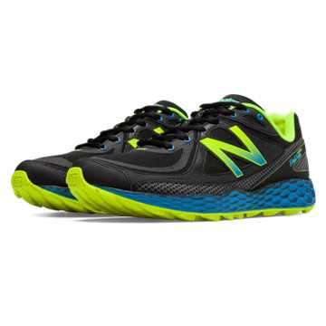New Balance Fresh Foam Hierro, Black with Teal & Yellow