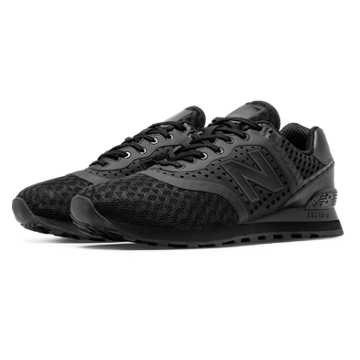 New Balance 574 Re-Engineered Breathe Solid, Black