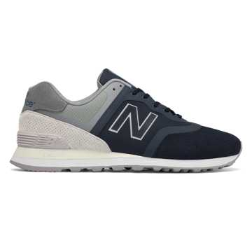 New Balance 574 Re-Engineered, Navy with Light Grey