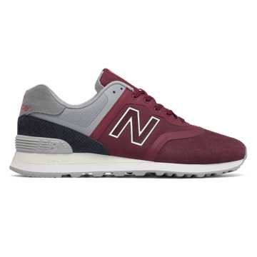 New Balance 574 Re-Engineered, Red with Grey