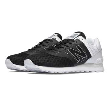 New Balance 574 Re-engineered Breathe, Black with White