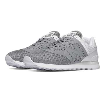 New Balance 574 Re-engineered Breathe, Grey with White