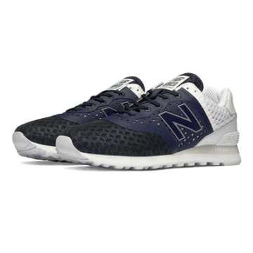 New Balance 574 Re-Engineered Breathe, Navy with White