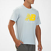 Big Brand Tennis Tee, Celestial Blue with Cyber Yellow & Bright White