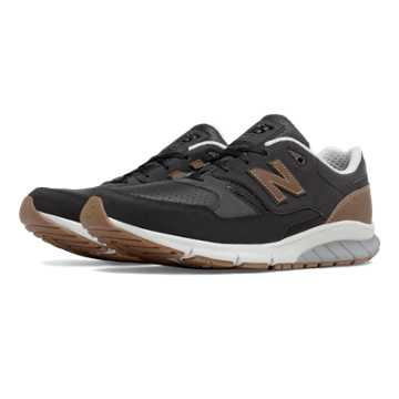 New Balance 530 Vazee Leather, Black with Tan