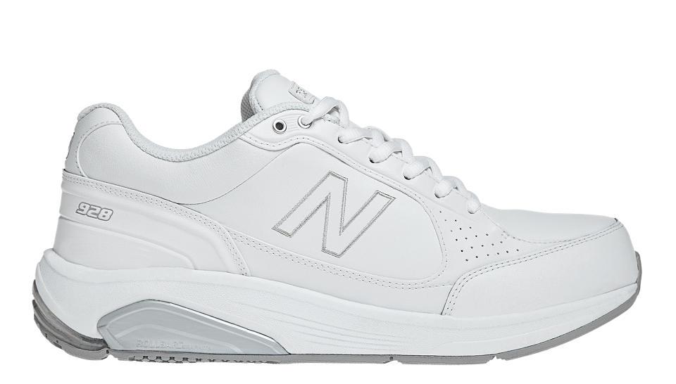 All White New Balance Nursing Shoes