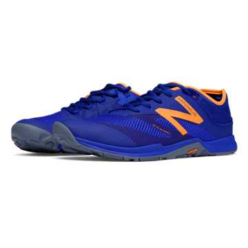 New Balance Minimus 20v5 Trainer, Blue with Orange