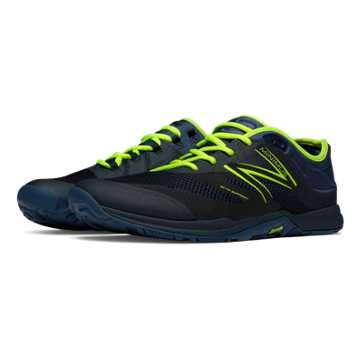 New Balance Minimus 20v5 Trainer, Black with Toxic & Navy