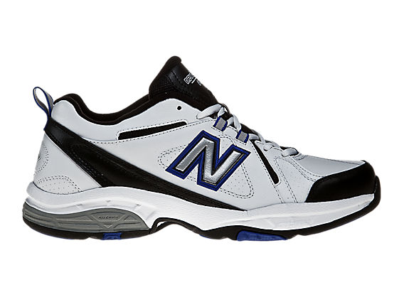 New Balance 608, White with Black & Blue