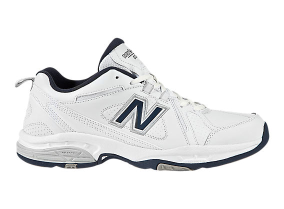 New Balance 608, White with Blue & Silver