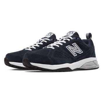 New Balance New Balance 623v3 Suede Trainer, Navy with Off White