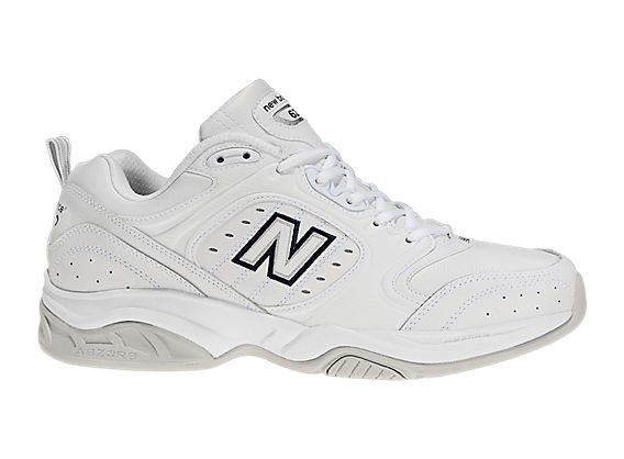New Balance 623, White with Navy & Grey