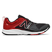 New Balance 777v2 Trainer, Black with Red