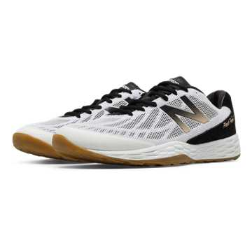 New Balance Fresh Foam 80v3 Trainer, Black with White & Gold