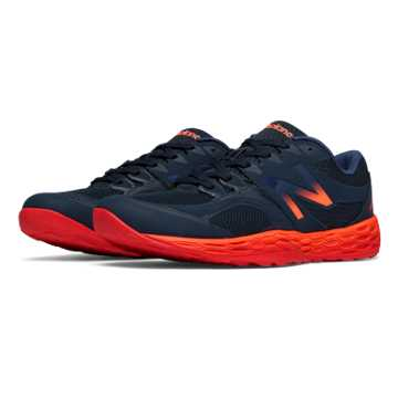 New Balance Fresh Foam 80v2, Navy with Red