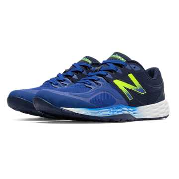 New Balance Fresh Foam 80v2, Ocean Blue with Navy & Hi-Lite