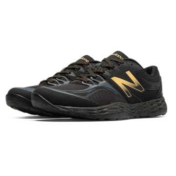 New Balance Fresh Foam Bold and Gold 80v2, Black with Gold