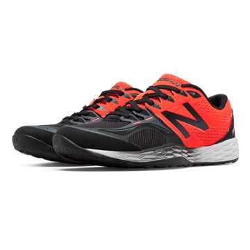 New Balance Fresh Foam 80v2, Dark Grey with Orange