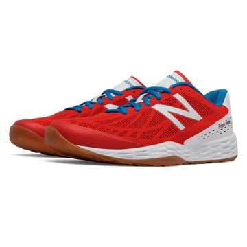 New Balance Fresh Foam 80v3 Trainer, Red with White