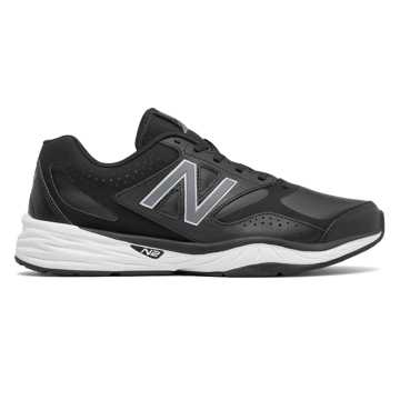 New Balance 824 Trainer, Black with Silver
