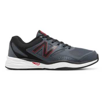 New Balance New Balance 824 Trainer, Dark Grey with Red