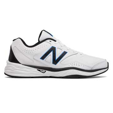 New Balance 824 Trainer, White with Black & Blue