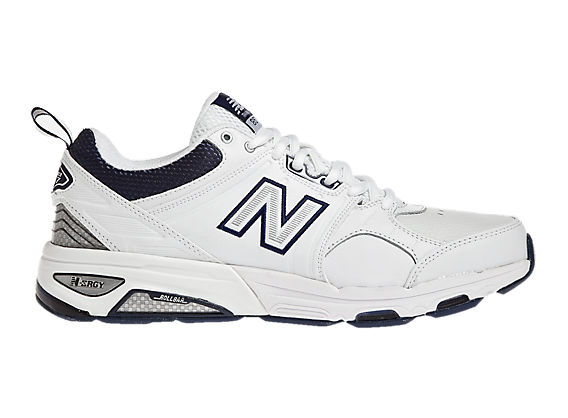 New Balance 857, White with Navy
