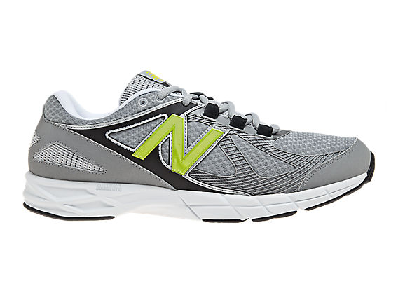 New Balance 877, Silver with Green