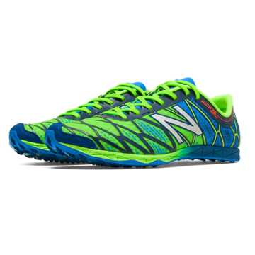 New Balance XC900v2 Spikeless, Lime Green with Bright Blue