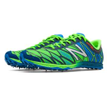 New Balance XC900v2 Spike, Lime Green with Bright Blue