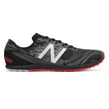 XC Seven Spikeless, Black with Bright Cherry