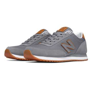 New Balance 501 Ripple Sole, Grey with Tan