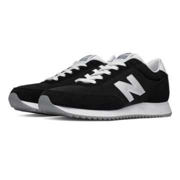 New Balance 501 90s Traditional Ripple Sole, Black with White