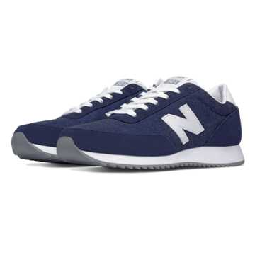 New Balance 501 90s Traditional Ripple Sole, Navy with White
