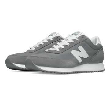 New Balance 501 90s Traditional Ripple Sole, Grey with White