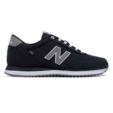 New Balance 501 Ripple Sole, Black with Gunmetal