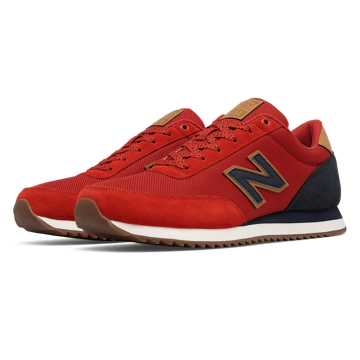 New Balance 501 Ripple Sole, Red with Navy