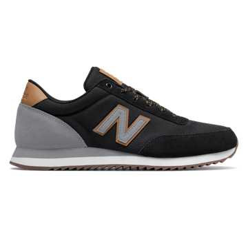 New Balance 501 Ripple Sole, Black with Light Grey