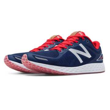 New Balance Fresh Foam Zante v2 Fenway, Navy with Red