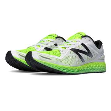 New Balance Fresh Foam Zante v2 Breathe, White with Toxic & Acidic Green