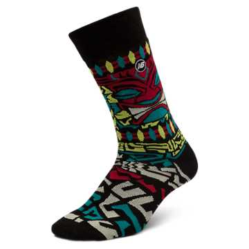 New Balance Tiki Crew 1 pair, Black with Green & Red