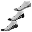 Enhanced Cool Low Cut (3 pack), White with Grey & Black