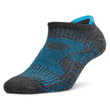 New Balance NBx® Merino Wool No Show Tab 1 pair, Dark Grey with Teal