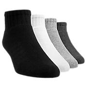 Core Quarter (4 pack), Black with Grey & White