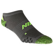 No Show Minimus (1 pair), Grey with Lime Green