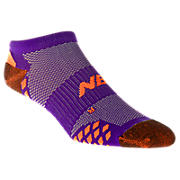 No Show Minimus (1 pair), Purple with Orange