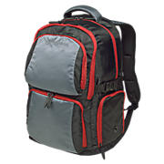 Performance Backpack, Grey with Black & Red