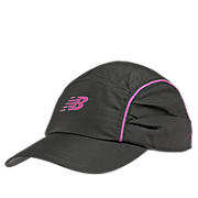 Ruched Running Cap, Black with Rose Violet