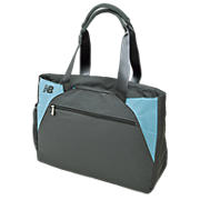 Wellness Tote, Grey with Blue