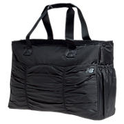 Ruched Wellness Tote, Black